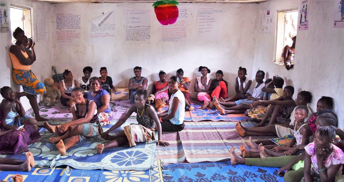 Girls club in Sierra leone