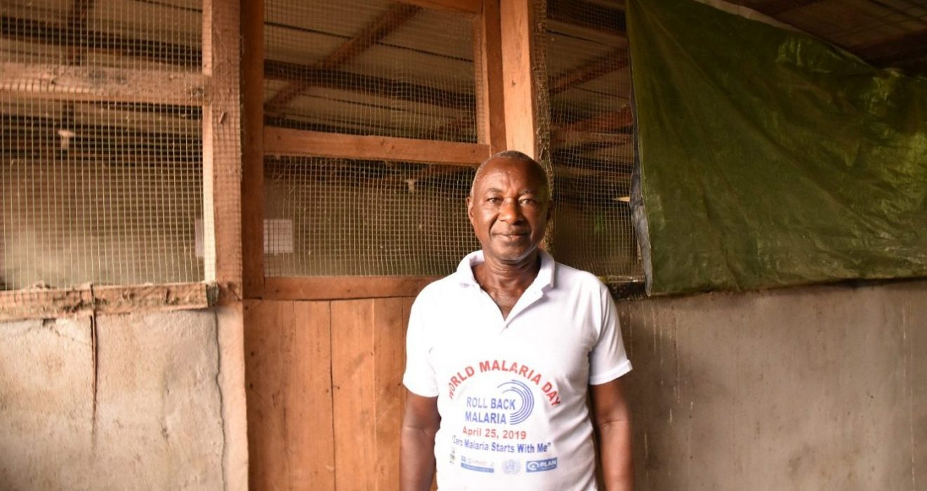 John a farmer in Liberia
