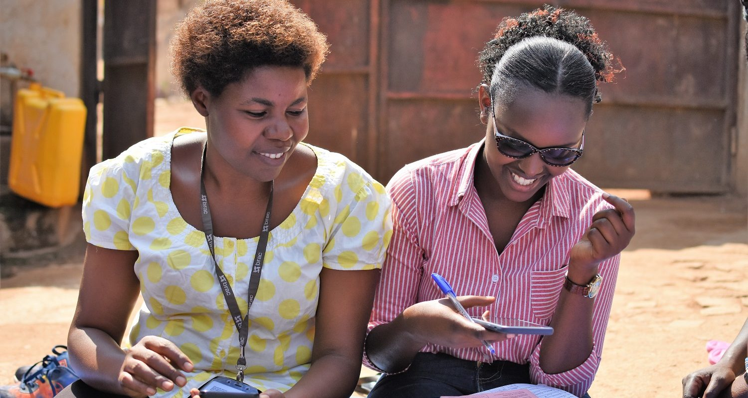 Financial inclusion in Rwanda, two women