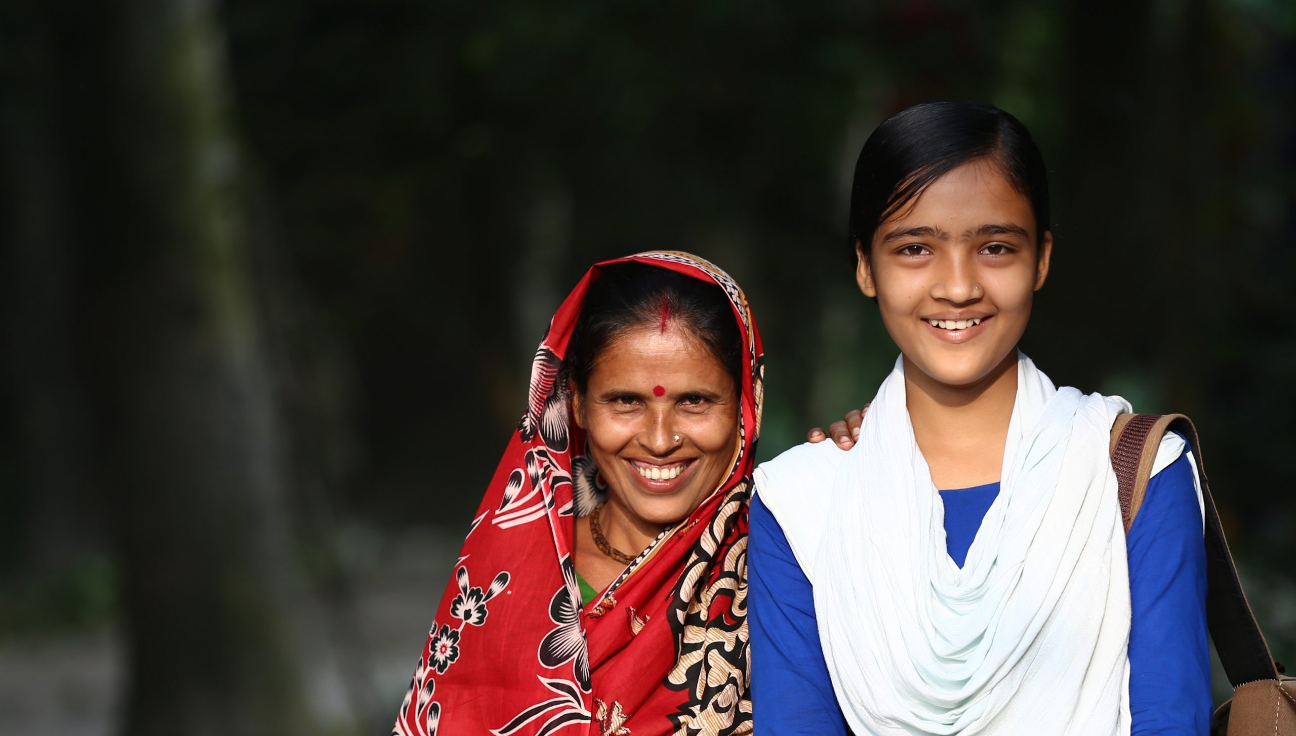 A mother and daughter in Bangladesh