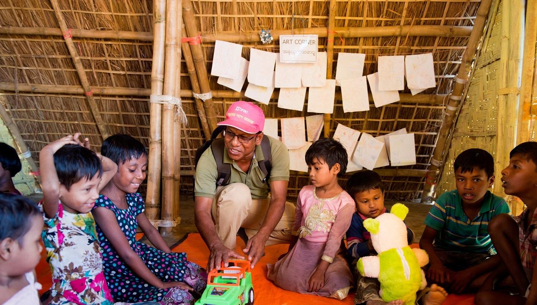 Humanitarian play lab - Coxs Bazar, Bangladesh
