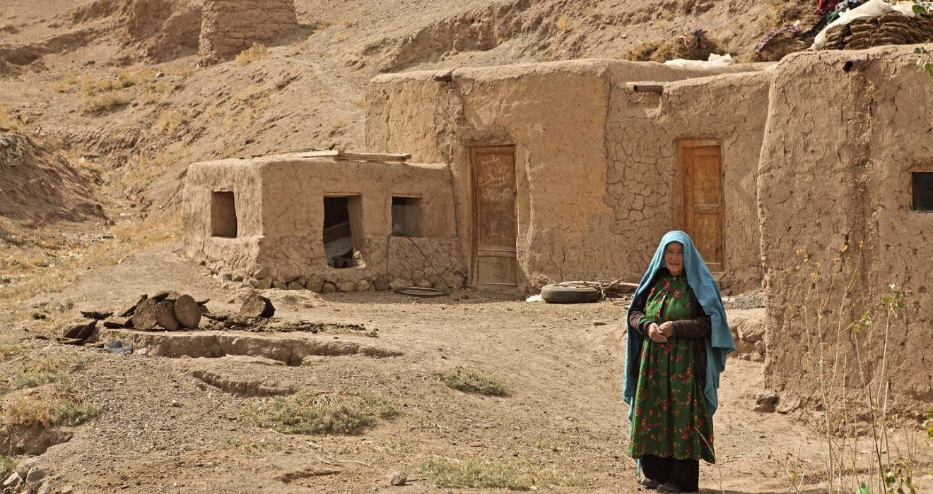 A woman at home in the Yakawlang district in Bamiyan province, Afghanistan.
