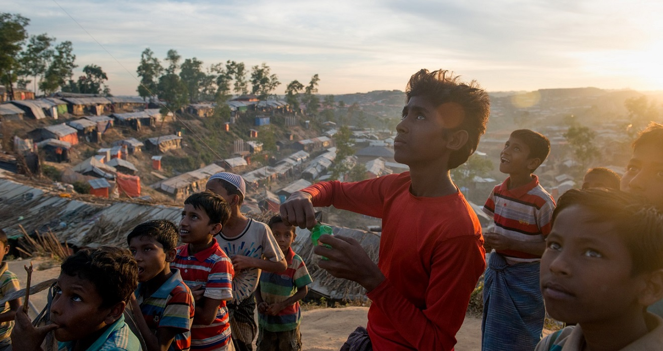 Refugee children in Cox's Bazar