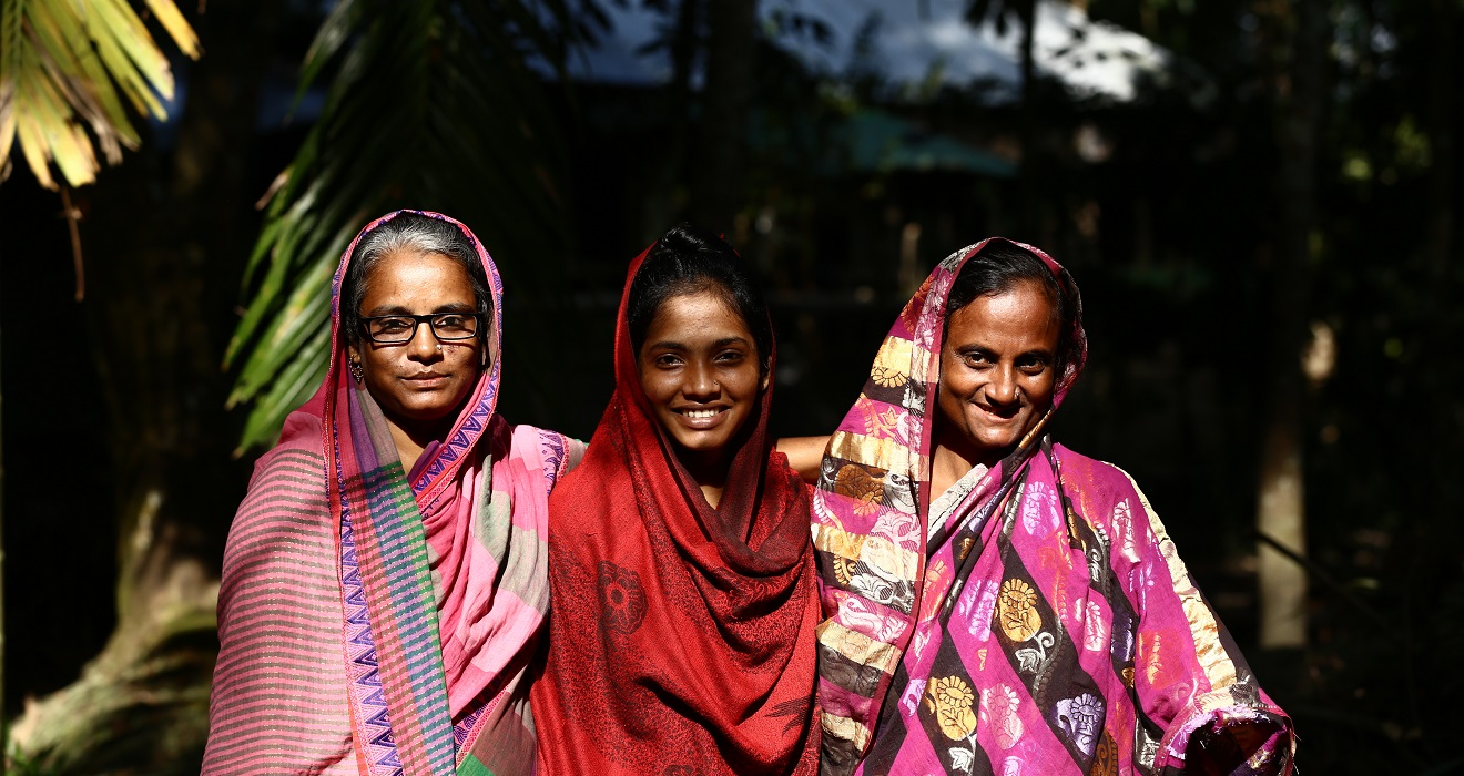 three women in Bangladesh