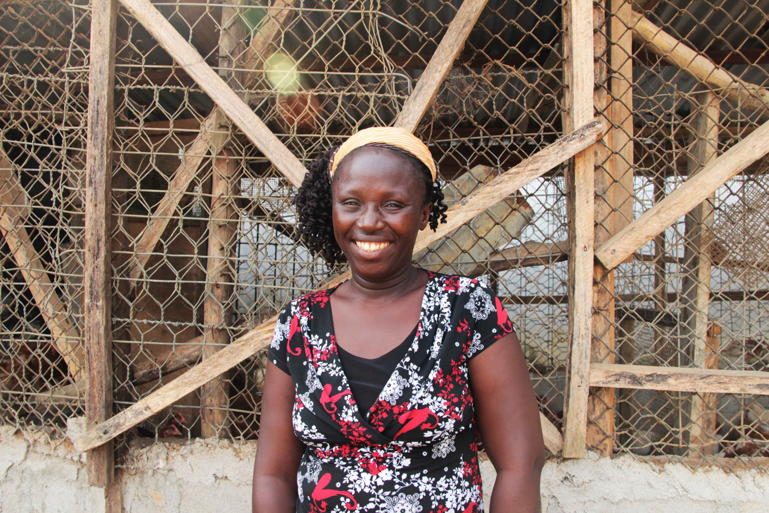 Ciatta, a chicken farmer in Liberia