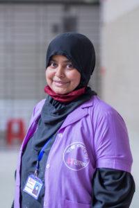 Ruma, a BRAC community health worker