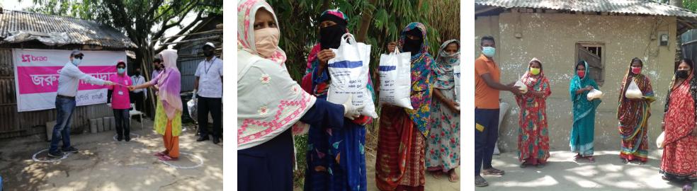 Food and cash distribution