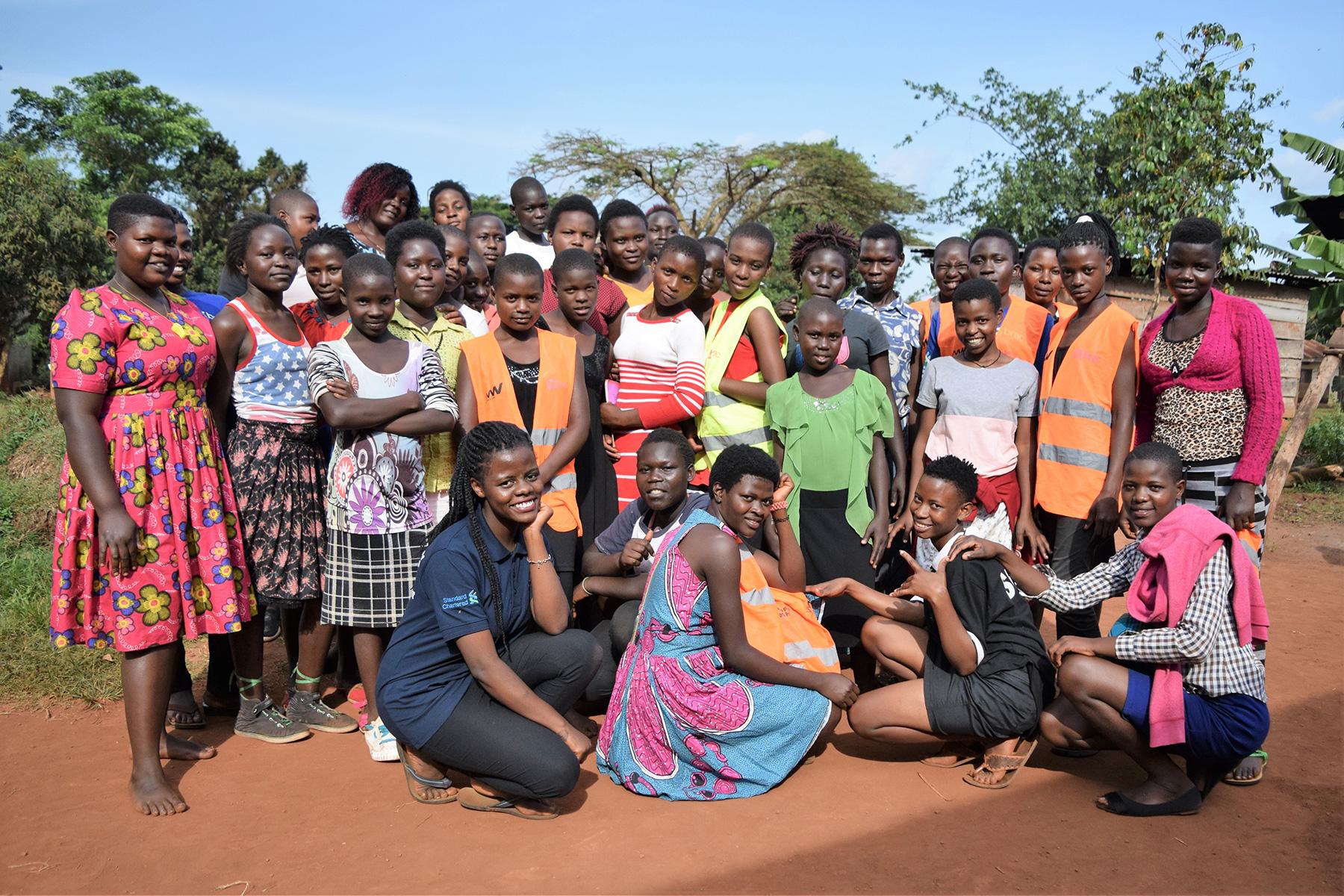 Girls gather for a BRAC youth empowerment club