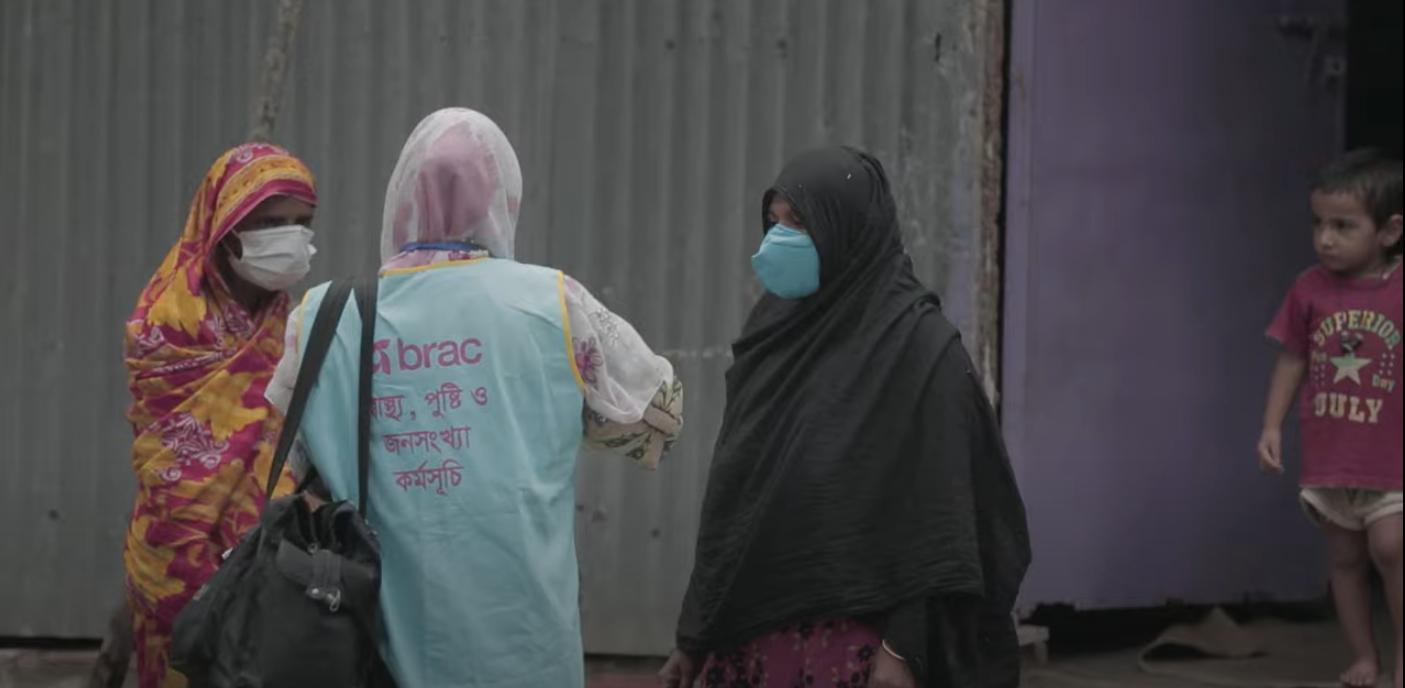 Community health workers go door-to-door informing community members on how to stay healthy.