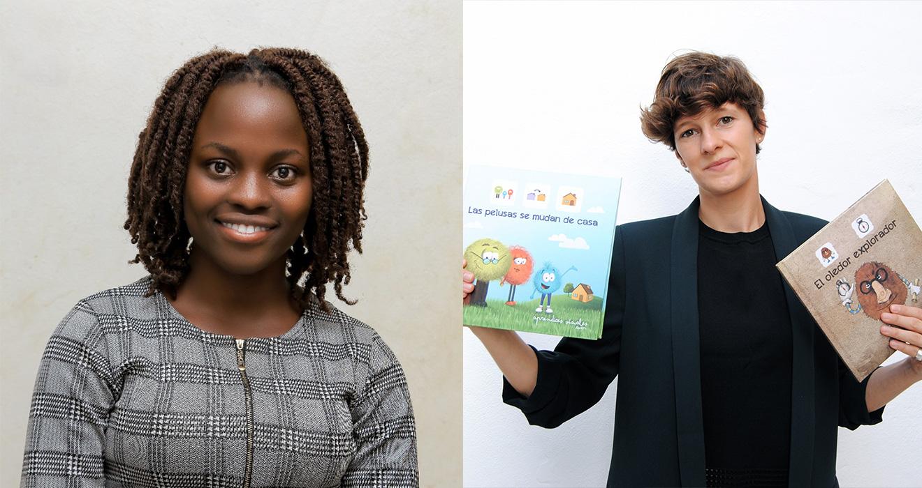 Next Generation Fellows Cynthia and Amelie.