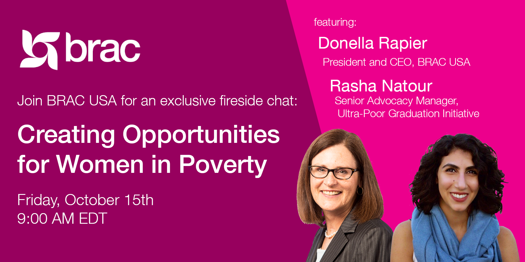 fireside chat with Donella and Rasha